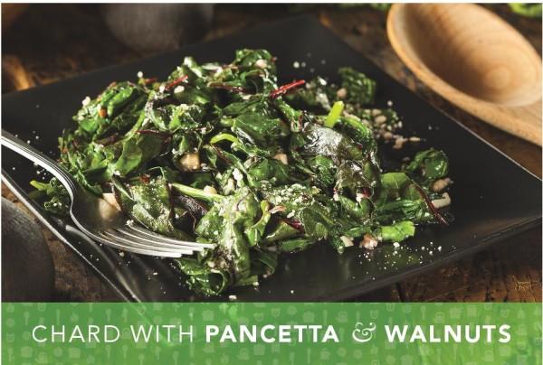 Chard with Pancetta and Walnuts