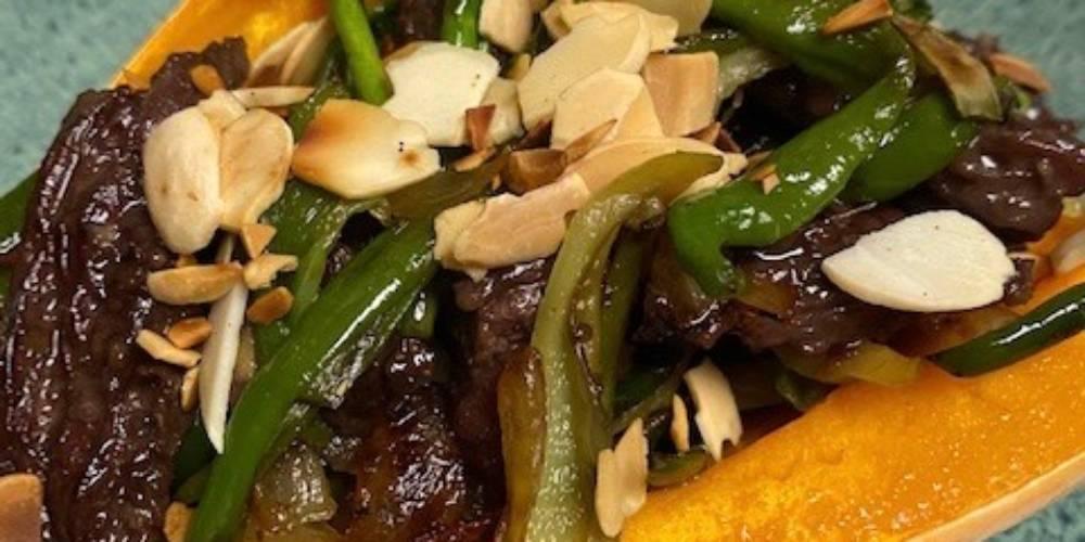 Steak and Veggie Stuffed Winter Squash